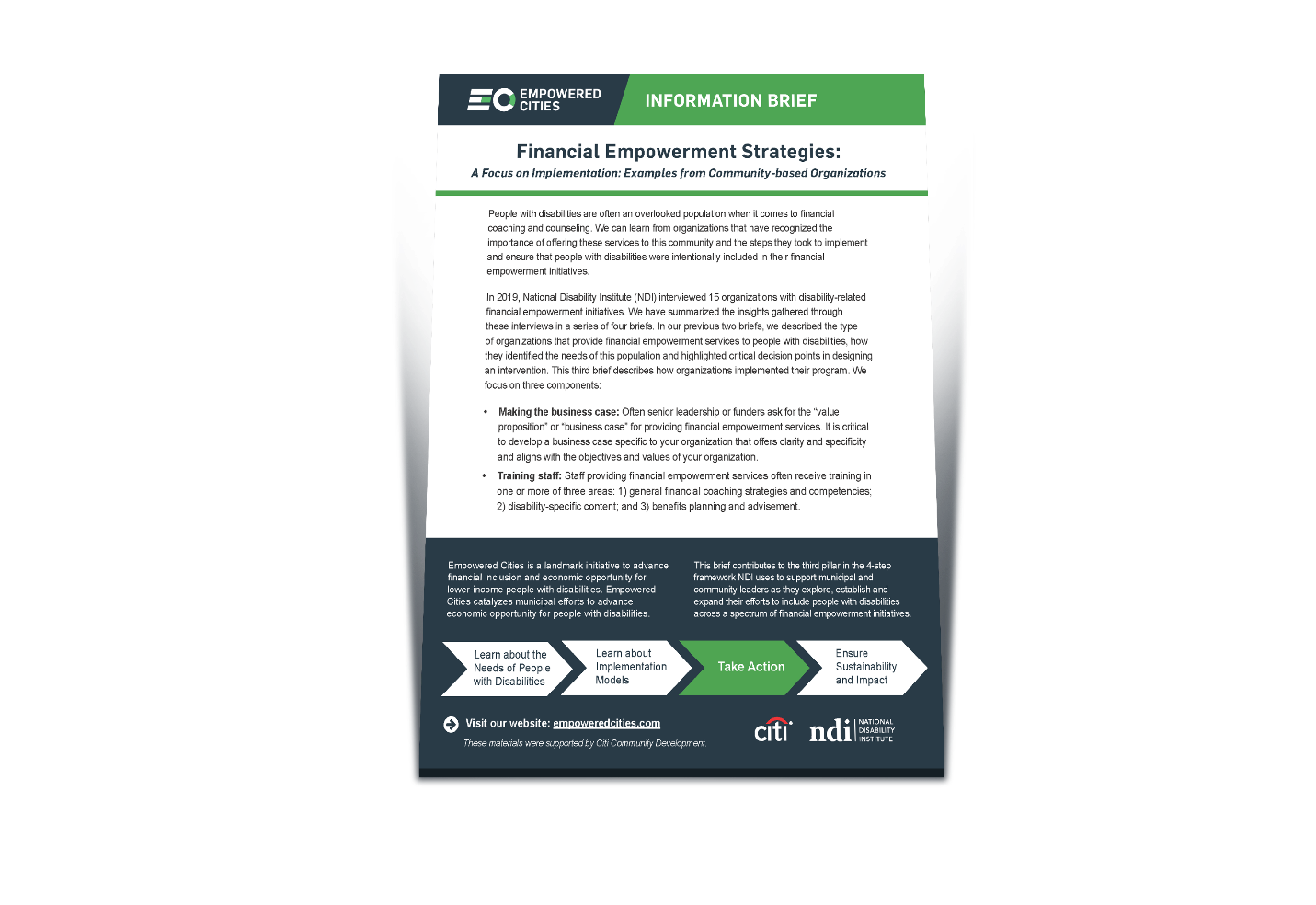 Financial Empowerment Strategies: A Focus on Implementation and Examples from Community-Based Organizations