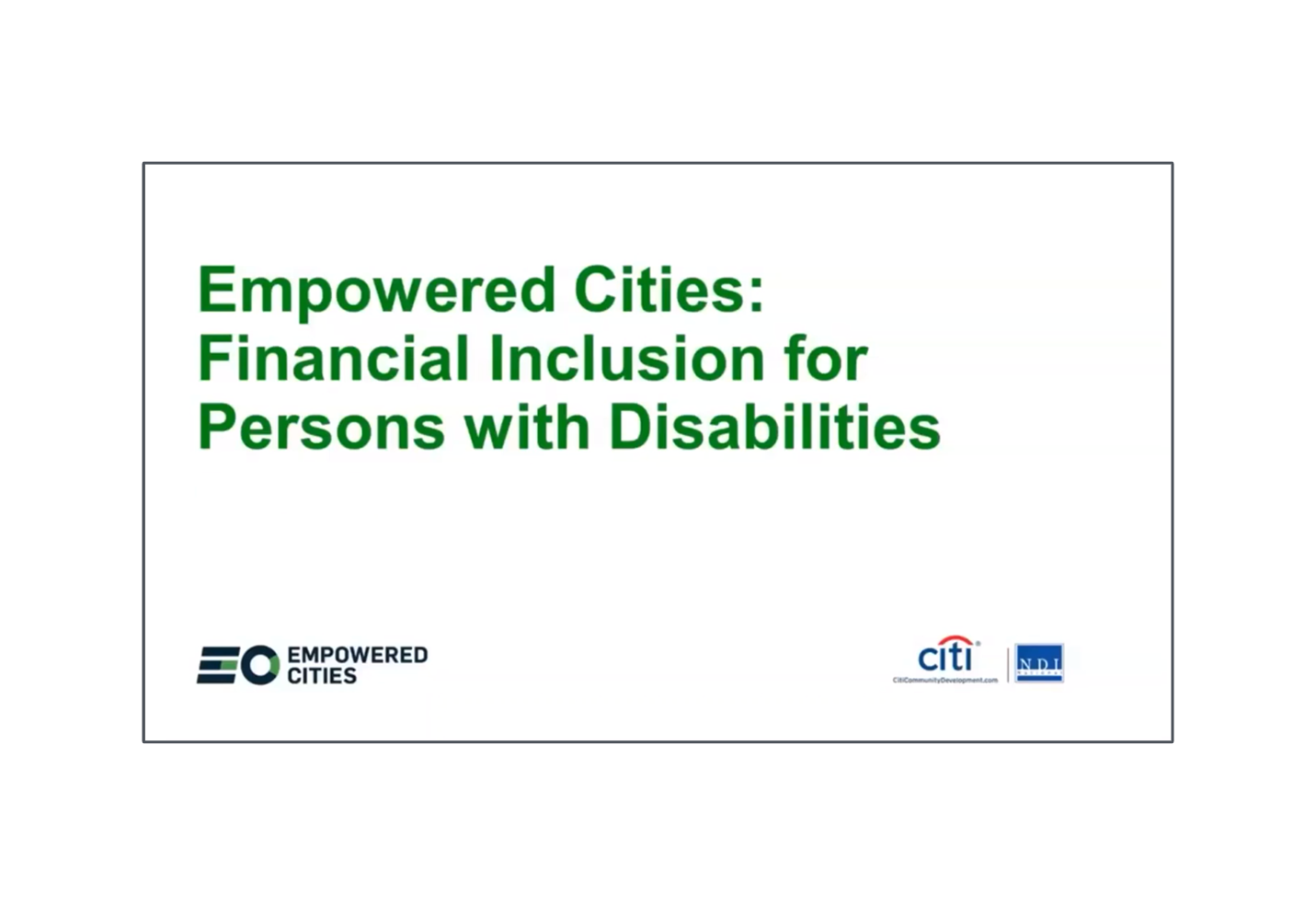 Defining Financial Inclusion for Persons with Disabilities and Why It Matters