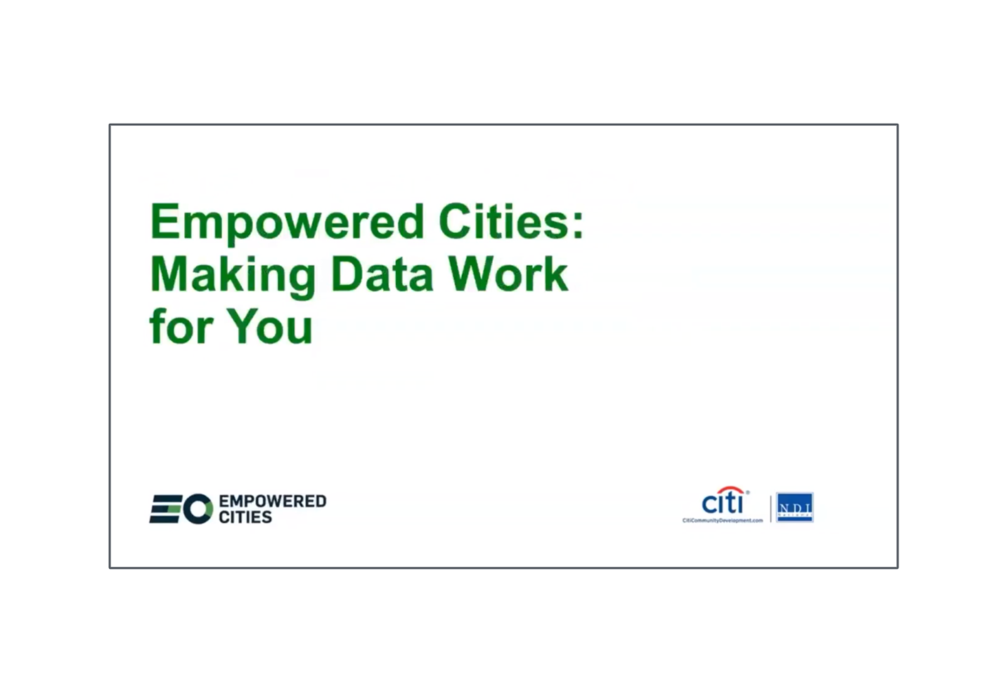 Making Data Work for You